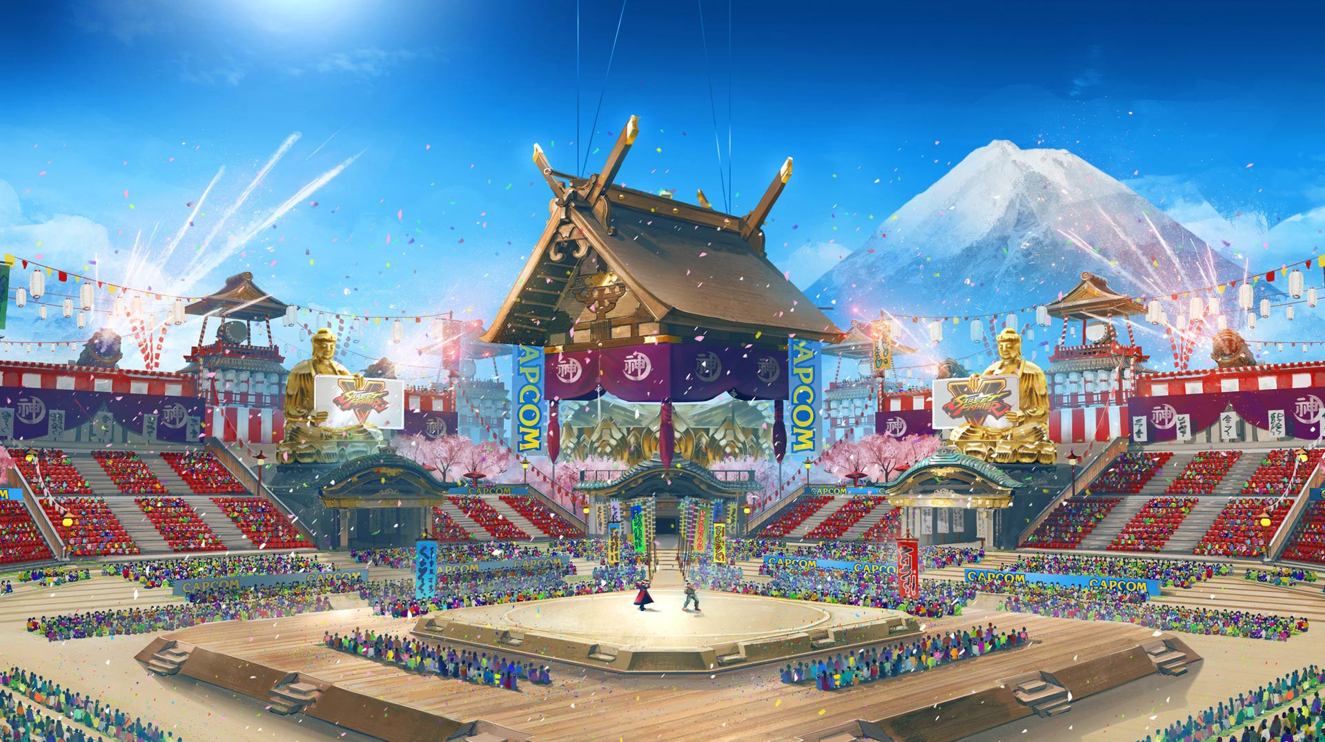Street Fighter V Arcade Edition Stage Concept Ring of Pride - Capcom